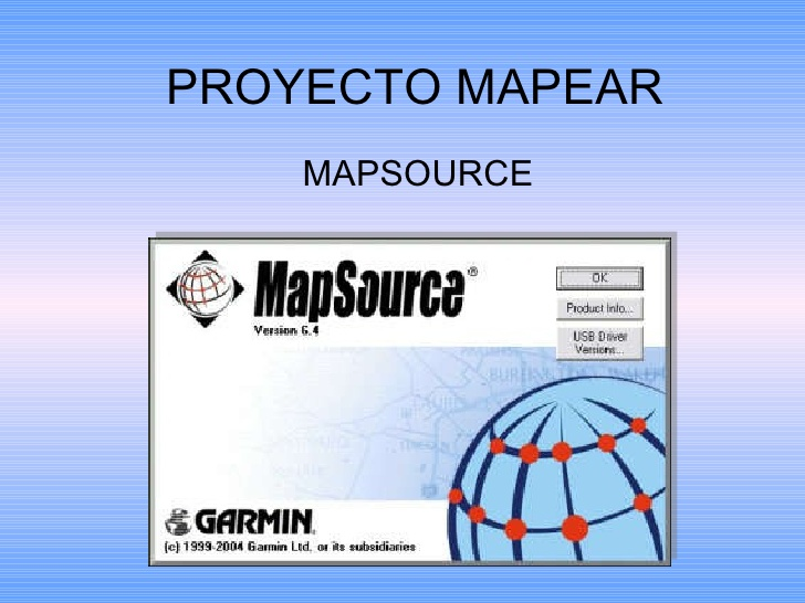 mapsource proyecto mapear